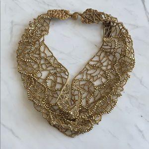 Mignonne Gavigan Beaded Mesh Collar Necklace